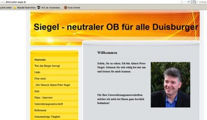 Homepage von Ahmet Peter Siegel