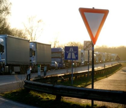 A40 Ausfahrt Duisburg-Homberg