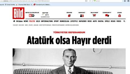 Screenshot Atatürk und türkischsprachiger Artikel in der Bild-Zeitung
